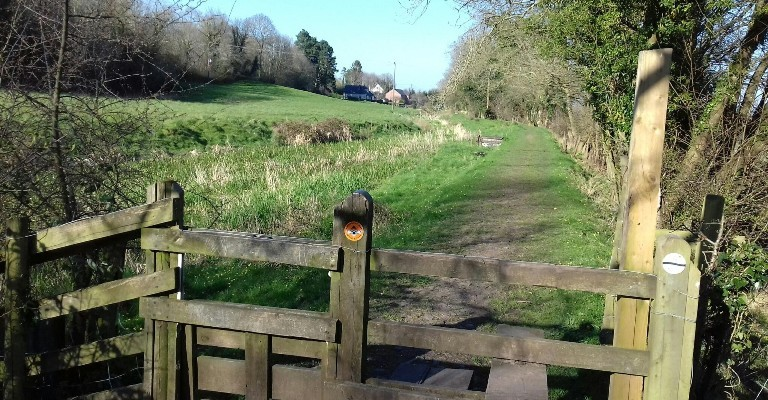 Dry section of the Montgomery Canal in Pant Shropshire