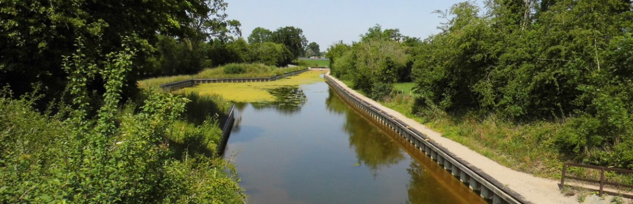 Newly restored Crickheath Basin on the Montgomery Canal - featured