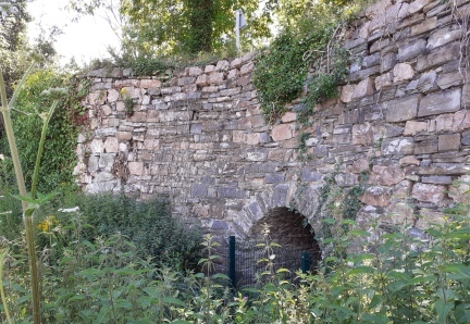 The lime kilns next to the Montgomery Canal in Buttington