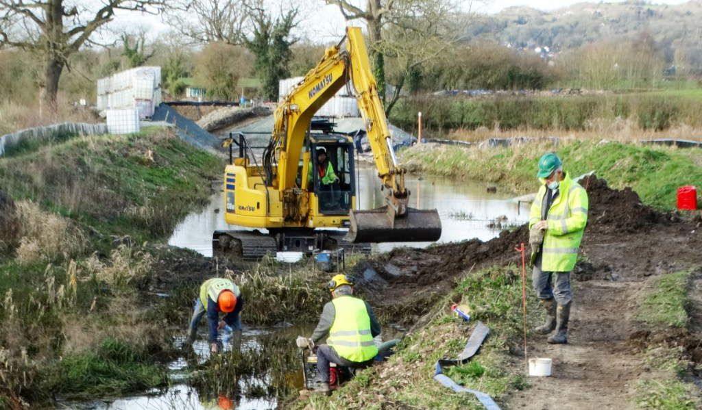Restoration work on the Mntgomery Canal 2021